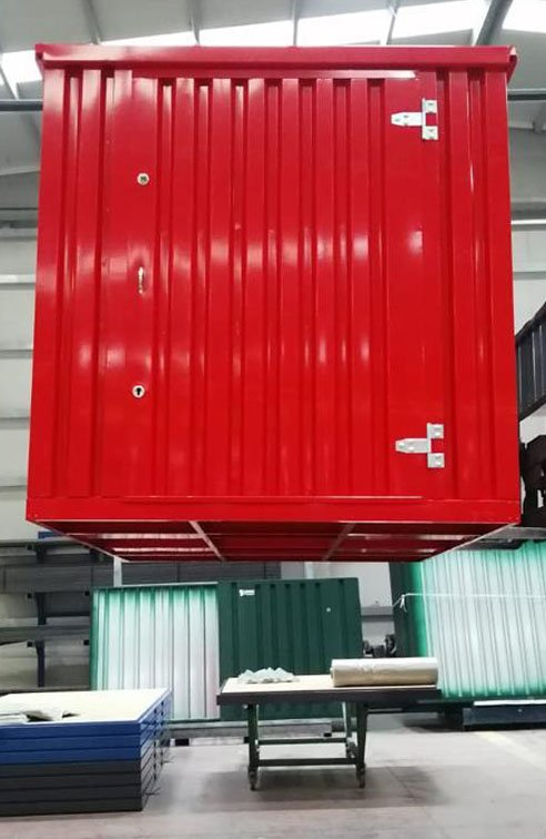 HAND-PORTABLE FLAT-PACK STORAGE CONTAINERS